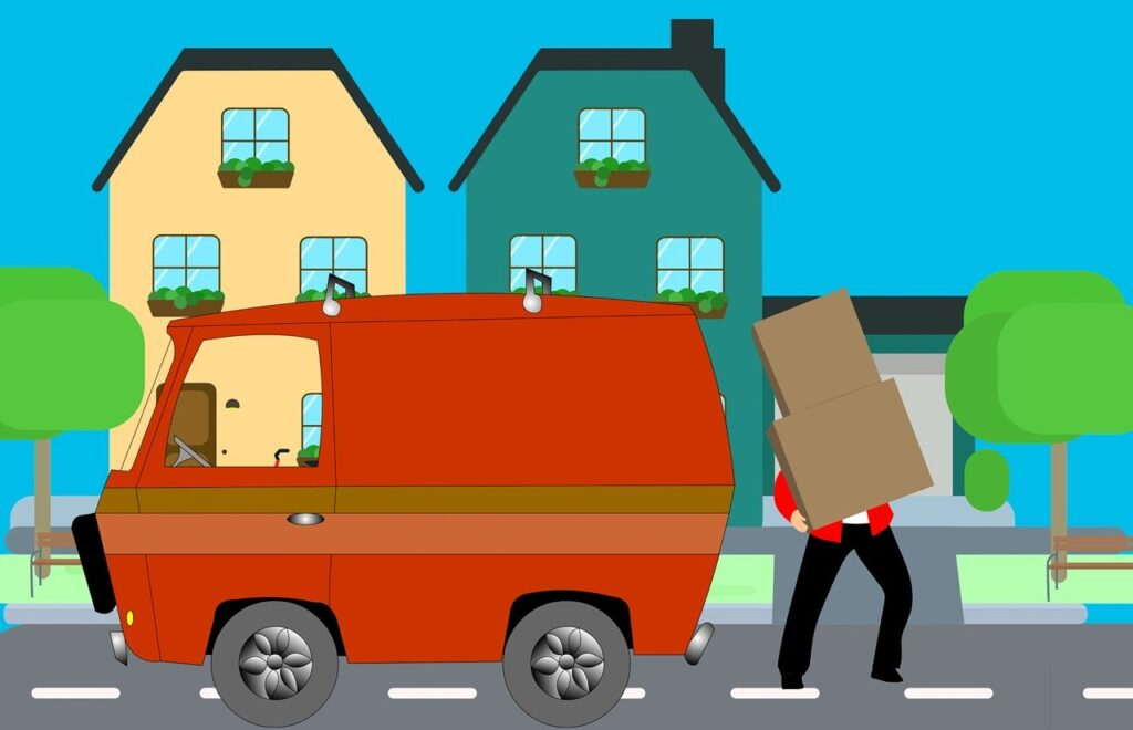 moving house using a van